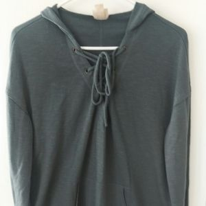 Mossimo size L long sleeve hooded shirt